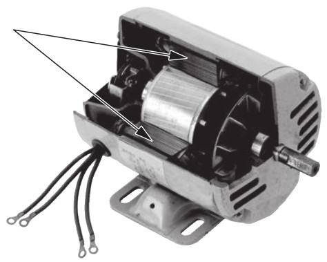 【電気工事士1種 過去問】単相誘導電動機の外観と部品名称(H25年度問15)